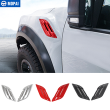 MOPAI Interior Mouldings for Car Front Side Fender Vents Air Outlet Decoration Cover Accessories for Ford F150 Raptor 2015+