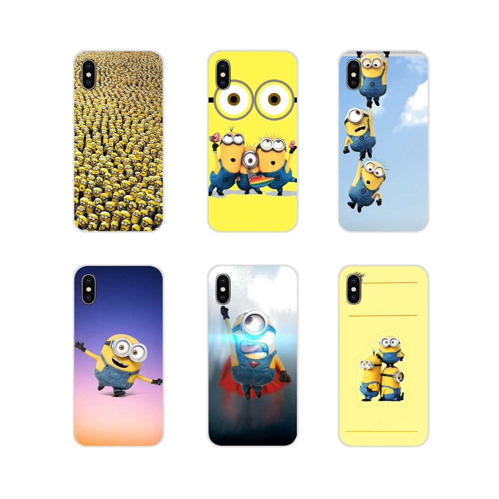 Silicone Phone Shell Cases For Samsung Galaxy S3 S4 S5 Mini S6 S7 Edge S8 S9 S10 Lite Plus Note 4 5 8 9 Funny 3D Minions cartoon image