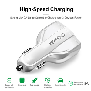 Image 5 - QGEEM QC 3.0 USB C Car Charger 3 Ports Quick Charge 3.0 Fast Charger for Car Phone Charging Adapter for iPhone Xiaomi Mi 9 Redm