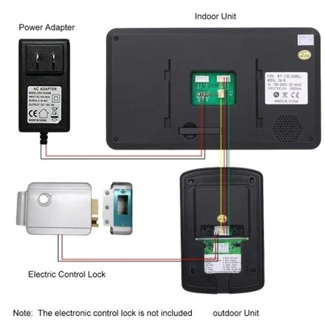 IG-7 pouces TFT LCD sans fil WiFi intelligent vidéo interphone système 1000TVL filaire sonnette caméra (prise ue)