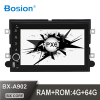 Bosion 2din Android 10 For Ford Fusion Expedition Explorer F150 Escape Edge Mustang 2006 2009 4G+64G PX6 HDMI WIFI SWC car radio