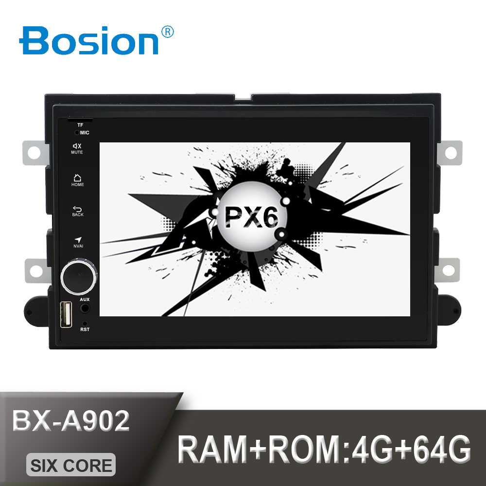 Bosion 2din Android 10 For <font><b>Ford</b></font> Fusion Expedition Explorer F150 <font><b>Escape</b></font> Edge Mustang 2006-<font><b>2009</b></font> 4G+64G PX6 HDMI WIFI SWC car radio image