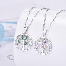 Sodrov prata esterlina 925 cristal árvore da vida pingente colar para mulher prata 925 colar
