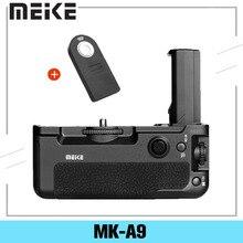 Controle de bateria meike MK A9, função de tiro vertical para sony a9 a7iii a73 a7m3 a7riii a7r3 + controle remoto es ir