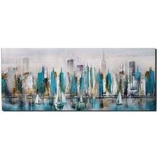 Ручная роспись абстрактные импасто здания городской арт пейзаж