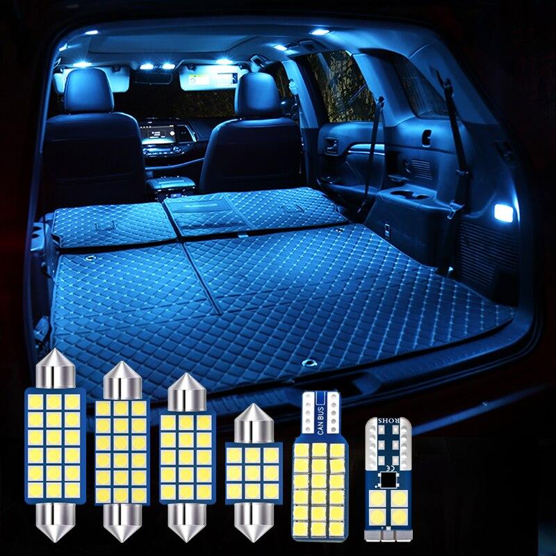 Для Toyota RAV4 XA40 2009-2015 2016 2017 2018 6 шт. светодиодный интерьер автомобиля светильник чтения светильник багажник светильник s Модификация аксессуар...