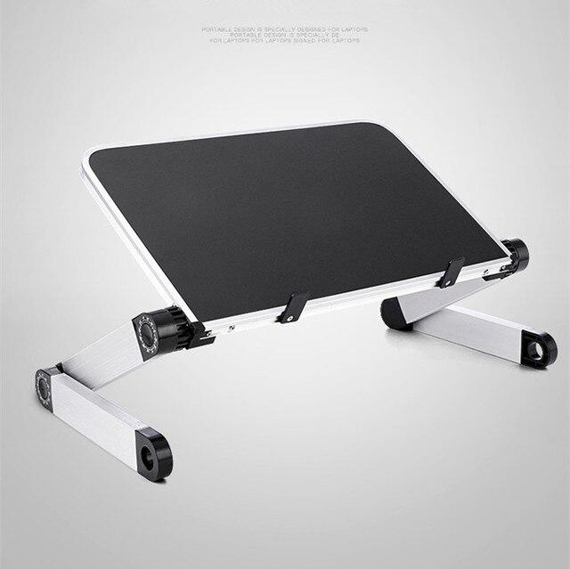 كمبيوتر محمول صغير حامل صينية جلوس للسرير الأريكة قابلة للطي متعددة الوظائف قابل للتعديل مريح ارتفاع 360 درجة زاوية