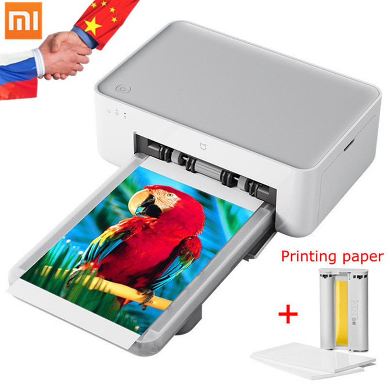 Xiaomi Mijia Mi Photo Printer 6-inch High-Definition Auto Film Multi-size ID Photos Smart Printer Wireless Phone Photo Printer
