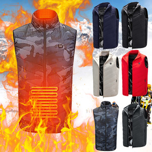 Outdoor Warm Clothing Heated For Riding Skiing Fishing Charging Via Heated Coat Warm Jacket Clothing For Sports Hiking Riding