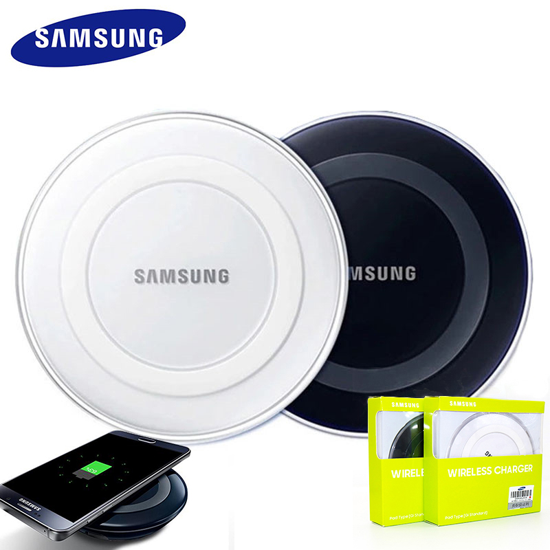 Original Samsung Wireless Charger Adapter qi Charge Pad For Galaxy S7 S6 EDGE S8 S9 S10 Plus Note 4 5 For Iphone 8 X XS XR mi 9(China)