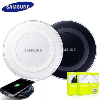 Оригинальное Беспроводное зарядное устройство Samsung адаптер qi зарядная площадка для Galaxy S7 S6 EDGE S8 S9 S10 Plus Note 4 5 для Iphone 8 X XS XR mi 9