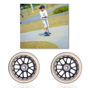 1 Pair 100mm Scooter Wheels Mute Replacement Wheels For Luggage Suitcase Baby Swing Car (Black)