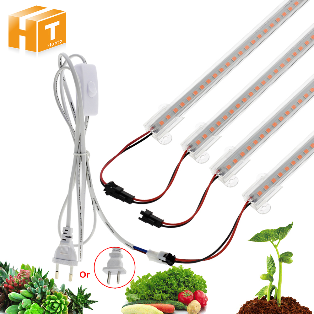 LED Grow Light AC110V AC220V 8W High Luminous Efficiency Full Spectrum Grow LED Tube for Plants Growing 50cm 72LED 1-6pcs Set