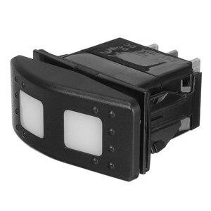 Универсальный светодиодный выключатель DPDT ON-OFF-ON, 12 В, 7 контактов
