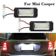 2 Pièces Blanc Canbus Auto LED Plaque D'immatriculation pour BMW Mini Cooper R56 2006-2012 Voiture Lampe de Signalisation Remplacement D'assemblée