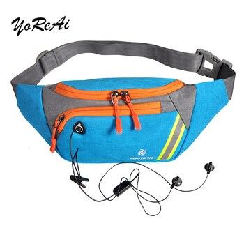 YoReAi Men Women Running Waist Bag Sport Pack Cycling Bag Belt Fanny Chest Pouch Outdoor Travel Racing Hiking Gym Fitness Purse