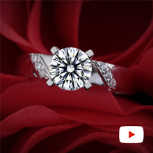 1.25 Carat round cut Diamond Ring not fake S925 sterling silver fine wedding proposal anniversary yes i do engagement