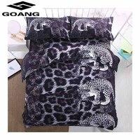 GOANG 3D printing printing luxury bedding set 3PCS duvet cover set Pillowcases comforter bedding set Black leopard bedclothes