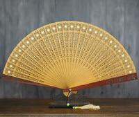 Old Changmen Sandalwood Fan Suzhou In National Customs Classical Hollow Out Sandalwood Fan Wenwan Gift Fan Arts And Crafts
