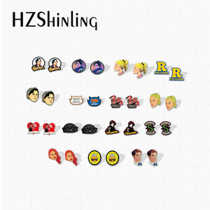 New TV Show Riverdale Characters Archie Andrews Betty Cooper Character Graffiti Acrylic Epoxy Earrings Gifts(China)