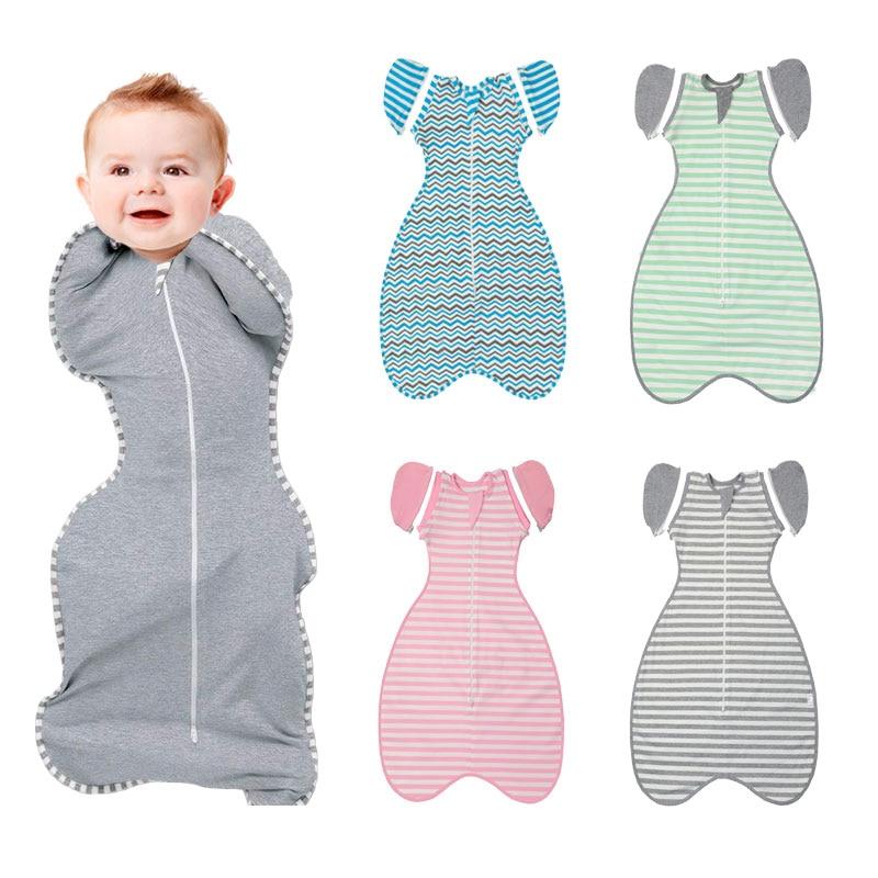 HereNice Baby Cocoon Modeling Sleeping Bag Toddler Sleepsack Infant Kids Swaddle Sleep Sack with Arms Up New Born Blankets