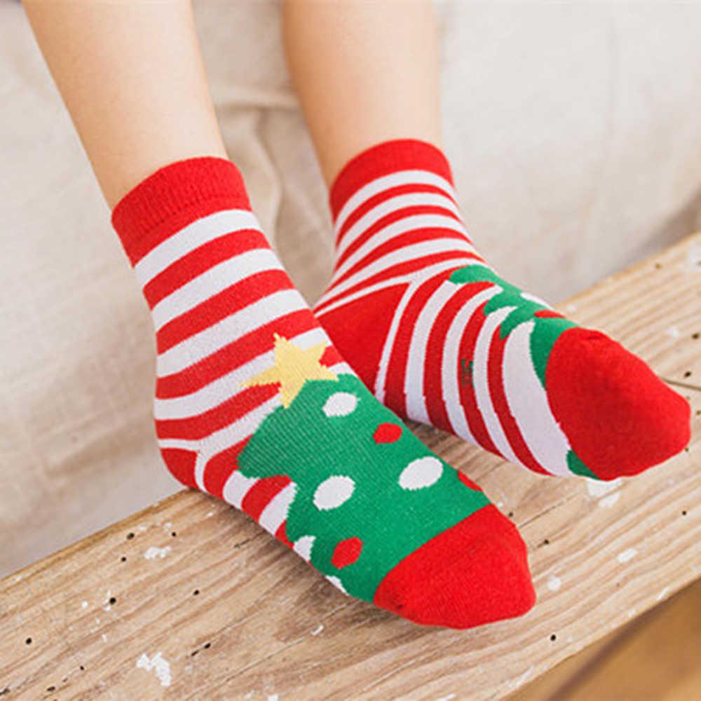 5 pares/set bebê algodão meias de natal macio espessamento meias combinar traje de natal para o miúdo crianças meninos meninas festa de ano novo