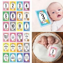 12 Pcs Month Card Baby Monthly Newborn Milestone Photo Sharing  Gift Set Funny Cartoon Photography  Stic