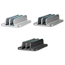Metal Vertical Laptop Stand Double Desktop Stand Holder 5-30mm Width Adjustable Dock Compatible with All Laptops