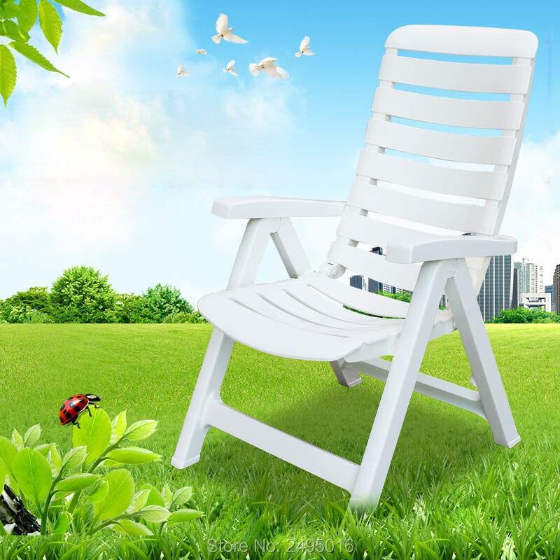 Beach Chair White Color Folding Plastic