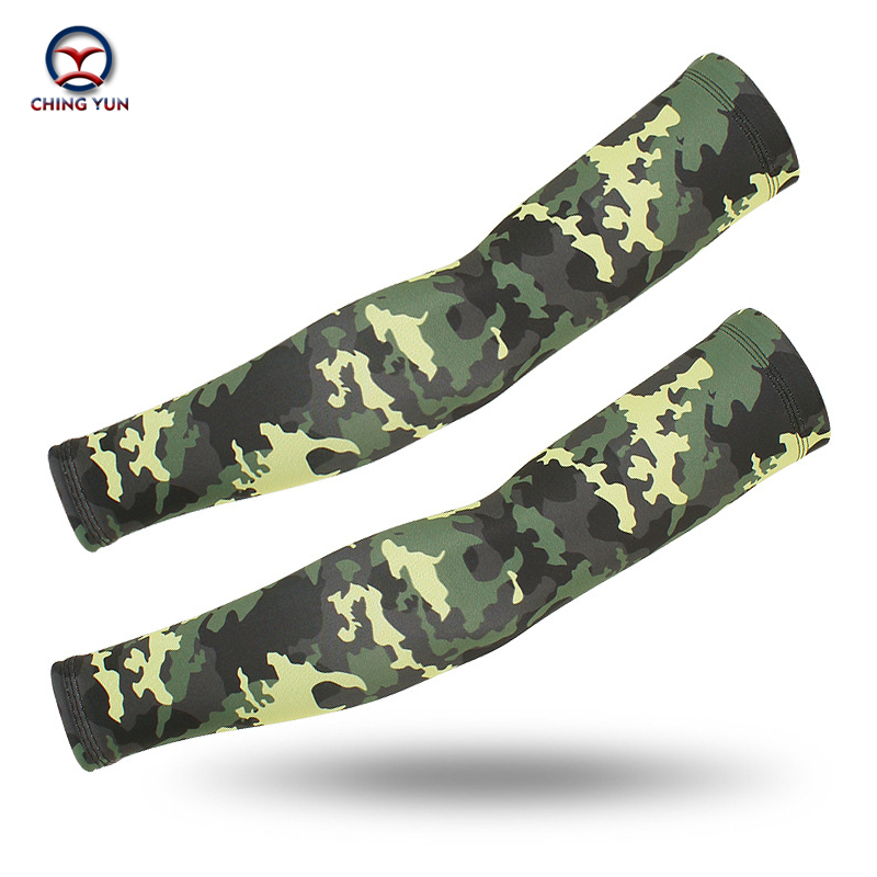 CHINGYUN New Army Fan Camouflage Ice Silk Arm Cover Novel Fashion Anti-UV Sport Riding Fishing Unisex Sunscreen Outdoor Fitness