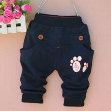 1 шт./лот) хлопок; новинка г.; осенние брюки с мышкой для детей(от 0 до 3 лет
