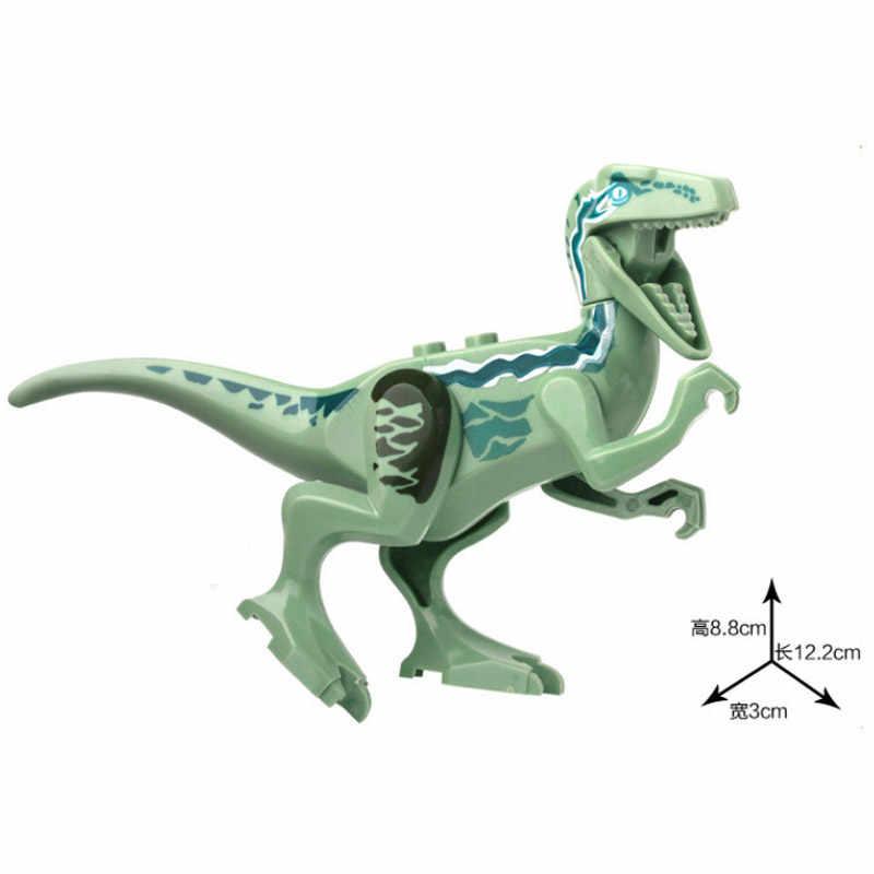 Dinosauro di Jurassic park Triceratops Pterosauria Indomirus T-Rex Del Mondo set Grande di Mattoni Modello Building Block Giocattolo action Figure