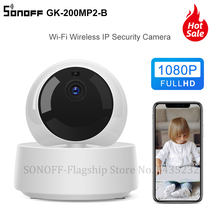 Itead SONOFF GK 200MP2 B 1080P HD MINI Wifi akıllı kamera akıllı ev güvenlik kamerası 360 Wirelsess IP kamera ile e bisiklet WeLink kontrol