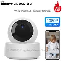 Itead sonoff mini câmera inteligente GK 200MP2 B 1080p hd, câmera de segurança wifi com 360 fios via e controle de welink