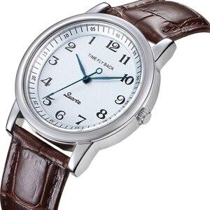 Image 2 - 쿼츠 시계 여성 반 시계 방향 역방향 저울 가죽 비즈니스 방수 시계 패션 반 시계 방향 시계 여성 시계