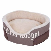 Kennel Bomei small dog comfortable warm printing cat litter pet bed cat mat
