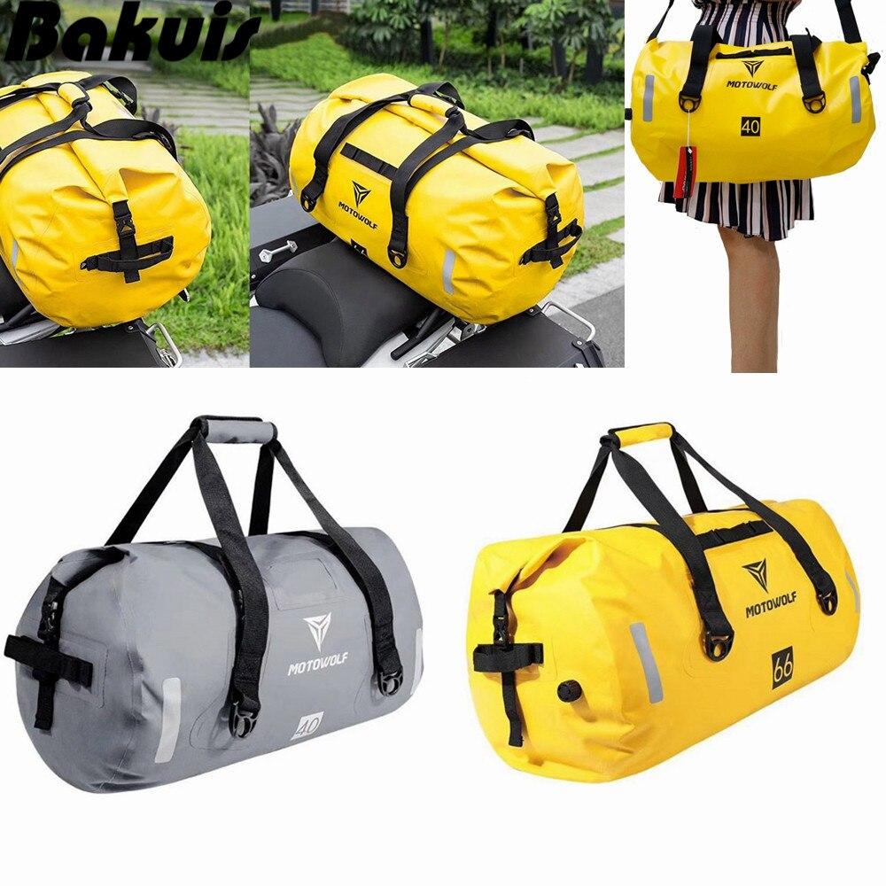 Moto étanche queue sacs arrière siège sacs 40L voyage sac moto Scooter Sport bagages arrière siège sac Pack 90L jaune gris
