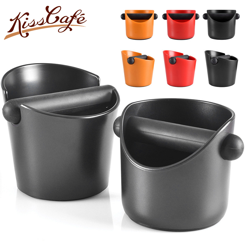 13x13x13mm Mini Coffee Tamper Knock Box Deep Bent Design Coffee Slag Isn't Splash Manual Coffee Grinder Coffee Accessorie