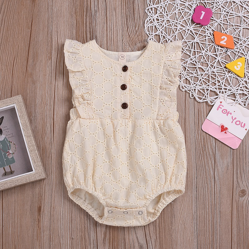 2020 Newborn Baby Kids Girls Lace Sleeveless Romper Jumpsuit Bodysuit Cute Outfits Cute Soft Infant Clothing