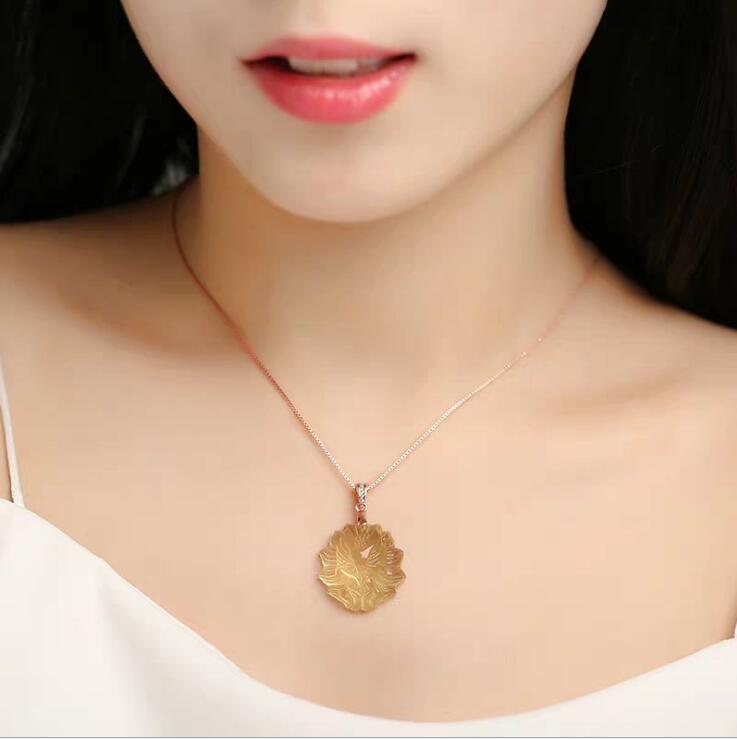 Natural topaz nine-tailed fox pendant small fox necklace fortune pendant female male crystal jewelry transfer to help the cause