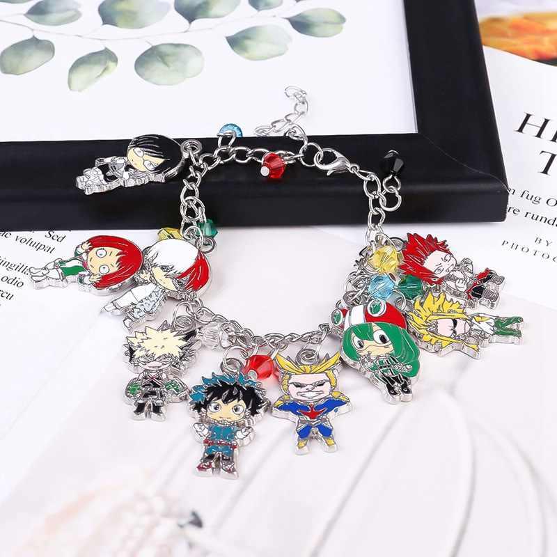 Sıcak Anime My Hero Academia Charm bilezikler Boku hiçbir kahraman Academia Midoriya Izuku deku bilezik bileklik Metal alaşım takı hediyeler