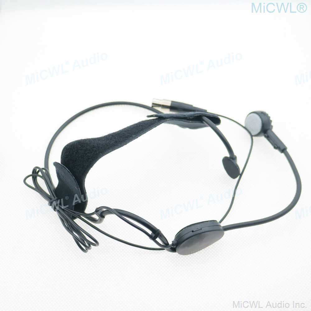 Dual Earhook Omni-directional Hands Free Head Face Unidirectional Headset Headworn Microphone 3.5mm Stereo Screw Lock Microphone for Wireless System /& Bodypack Transmitter outer