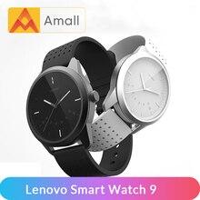 Lenovo Astuto Della Vigilanza Della Vigilanza di Modo 9 Vetro Zaffiro Smartwatch 50M Impermeabile Monitoraggio della Frequenza Cardiaca Chiamate Informazioni Ricordando