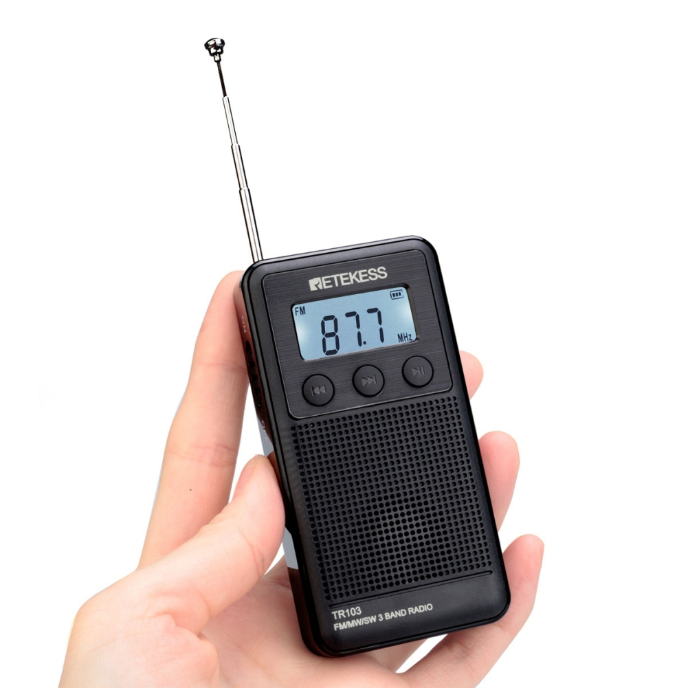 Mini FM/MW/SW Personal Pocket Radio Digital Tone Tuning MP3 Player Support TF Card New