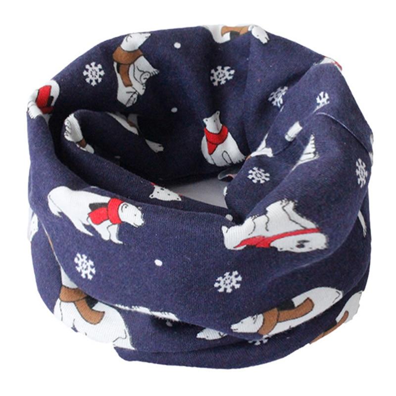 Весенний детский хлопковый шарф, теплый шарф для маленьких детей, осенне-зимние шарфы с героями мультфильмов для мальчиков и девочек, детский воротник с круглым вырезом, волшебный шейный платок - Цвет: 09