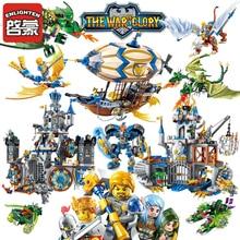 Enlighten Glory War Educational Legoes Building Blocks Toys Children Gifts Castle Knight Heros Weapon Elf Griffin