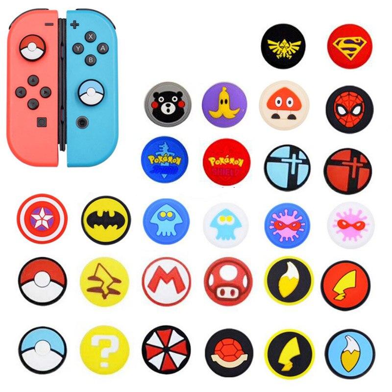 Joystick Cover Thumb Stick Grip Cap For Nintend Switch NS Lite Joy-Con Controller Pokemon Mario JoyCon Gamepad Thumbstick Case
