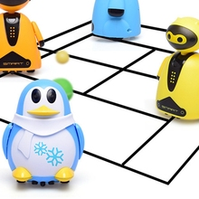 Inductive Electric Robot with LED Light Auto-Induction Car Follow Black Line Toy 203E