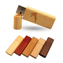 Customize Logo Wooden Pen Drive USB 2.0 Flash Drive 4G 8G 16G 32G 64G Wedding\Photography Gift Memory Stick 1GB 2GB Usb Pendrive(China)