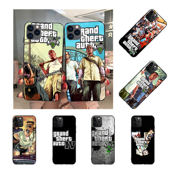 NBDRUICAI Grand Theft Auto Phone Case for iPhone 11 pro XS MAX 8 7 6 6S Plus X 5S SE XR case image
